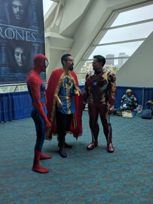 Spiderman, Doctor Strange, and Iron Man walk into a bar